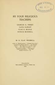 Cover of: My four religious teachers