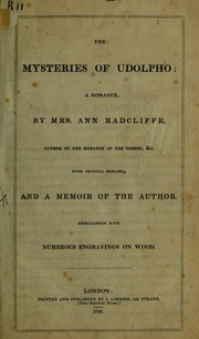 Cover of: The mysteries of Udolpho