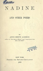 Cover of: Nadine and other poems