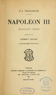 Cover of: Napoléon III
