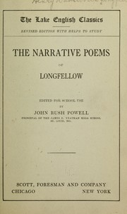 Cover of: The narrative poems of Longfellow | Henry Wadsworth Longfellow