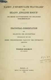 "Nash's ""Unfortunate traveller"" und Head's ""English rogue"" by Wilhelm Kollmann"
