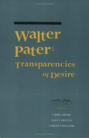 Cover of: Walter Pater |