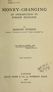 Cover of: Money-changing | Withers, Hartley