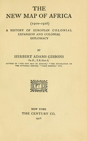Cover of: The new map of Africa (1900-1916) | Herbert Adams Gibbons