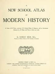 Cover of: A new school atlas of modern history