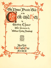 Cover of: The Nonnes preestes tale of the cok and hen