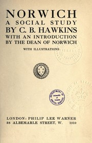 Cover of: Norwich, a social study