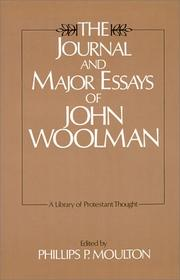 Cover of: The journal and major essays of John Woolman