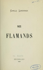 Cover of: Nos flamands
