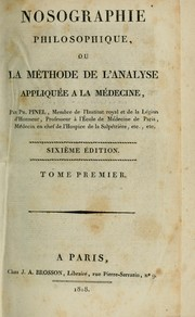 Cover of: Nosographie philosophique