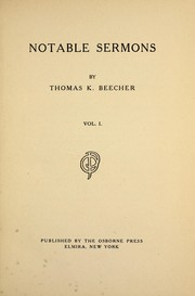 Cover of: Notable sermons