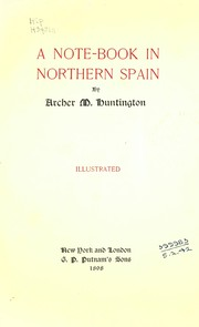 Cover of: A note-book in northern Spain