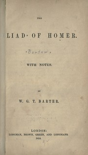 Cover of: Iliad of Homer with notes