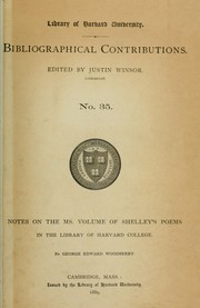 Cover of: Notes on the MS. volume of Shelley's poems in the library of Harvard College