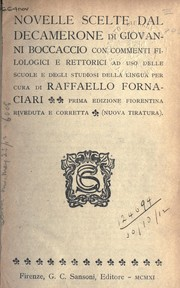 Cover of: Novelle scelte dal Decamerone