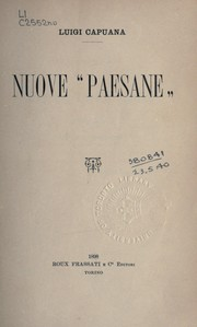 "Cover of: Nuove ""paesane"""