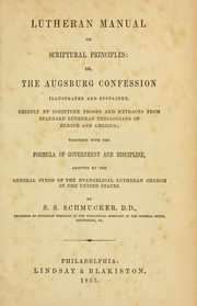 Cover of: The Lutheran manual on scriptural principles