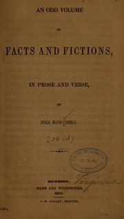 Cover of: An odd volume of facts and fictions, in prose and verse