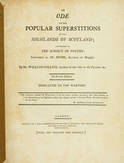 Cover of: An ode on the popular superstitions of the Highlands of Scotland: considered as the subject of poetry ...