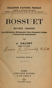 Cover of: Oeuvres choissies