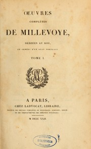 Cover of: Oeuvres complètes