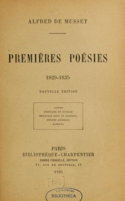 Cover of: Oeuvres complètes de Musset