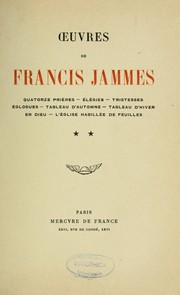 Cover of: Oeuvres de Francis Jammes