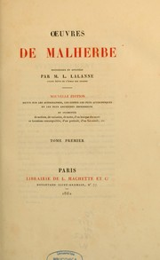 Cover of: Oeuvres de Malherbe