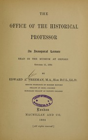 Cover of: The office of the historical professor