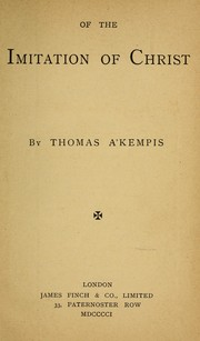 Cover of: Of the imitation of Christ | Thomas à Kempis
