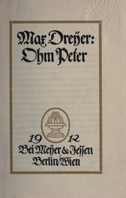 Cover of: Ohm Peter