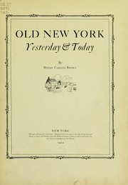 Cover of: Old New York yesterday & today