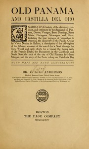 Cover of: Old Panama and Castilla del Oro | Charles L. G. Anderson