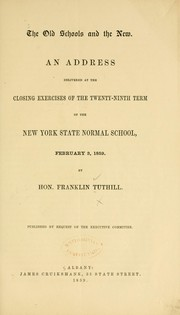 Cover of: The old schools and the new