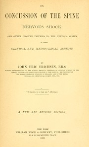 Cover of: On concussion of the spine