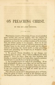 Cover of: On preaching Christ