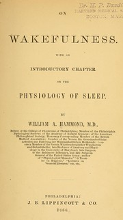 Cover of: On wakefulness: With an introductory chapter on the physiology of sleep.