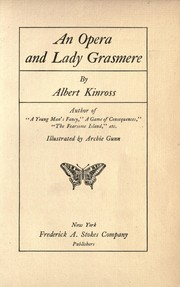 Cover of: An opera and Lady Grasmere