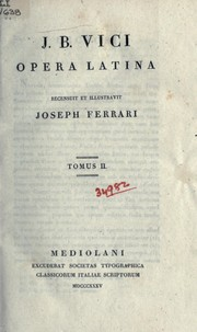 Cover of: Opere