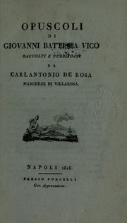Cover of: Opuscoli