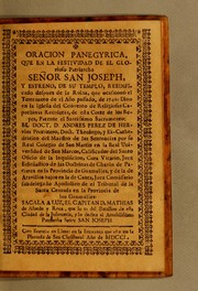 Cover of: Oracion panegyrica