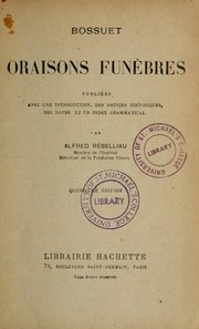 Cover of: Oraisons funèbres by Jacques Bénigne Bossuet