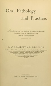 Cover of: Oral pathology and practice