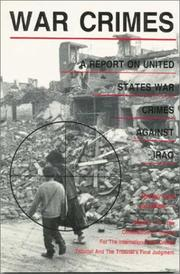 Cover of: War crimes