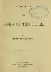 Cover of: An outline of the books of the Bible