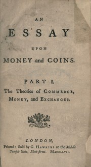 Cover of: An essay upon money and coins | Harris, Joseph