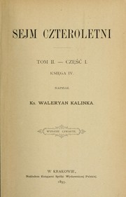 Cover of: Sejm czteroletni