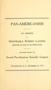 Cover of: Pan-Americanism