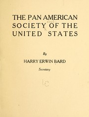 Cover of: The Pan American society of the United States | Pan American society, inc